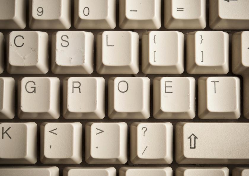 Wenskaarten divers - GROET - toetsenbord