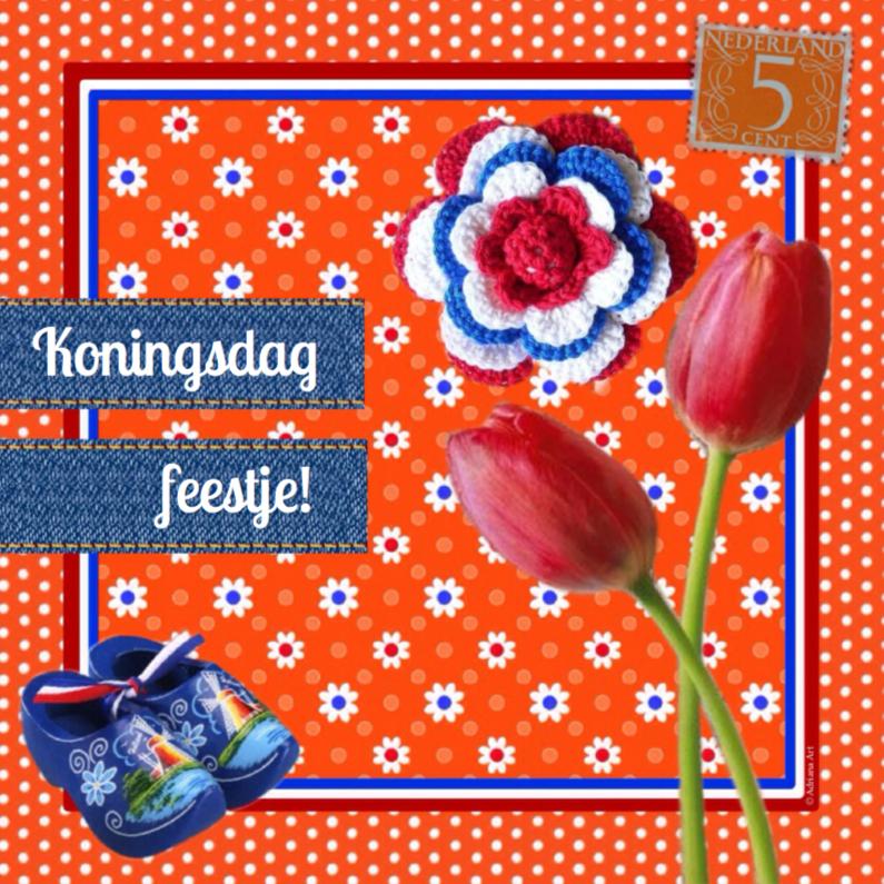 Wenskaarten divers - Koningsdag feest oranje