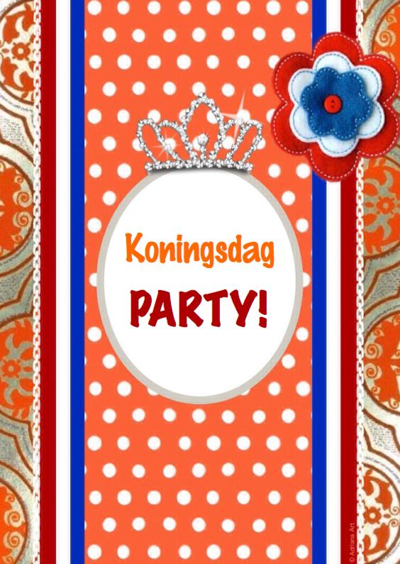 Wenskaarten divers - Koningsdag party