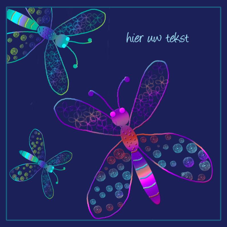 Wenskaarten divers - libelles