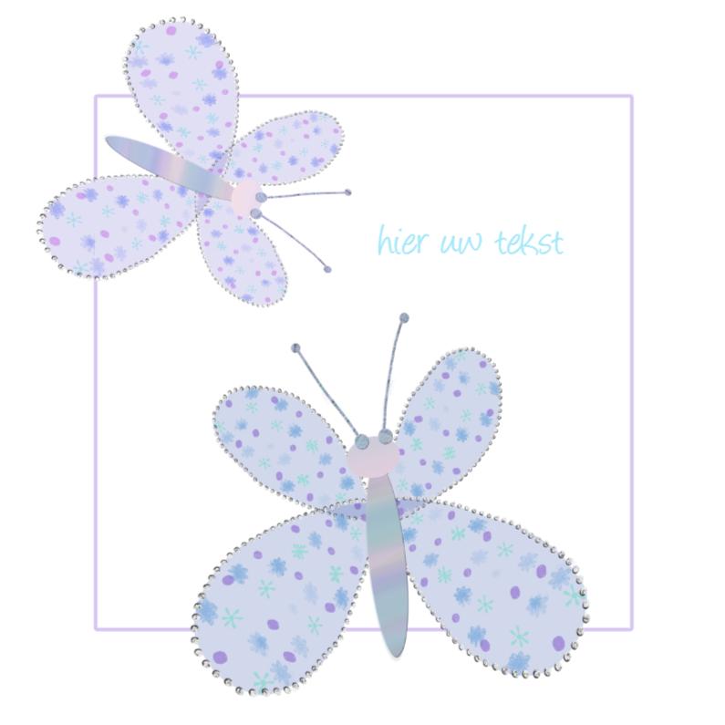 Wenskaarten divers - lieve vlinders