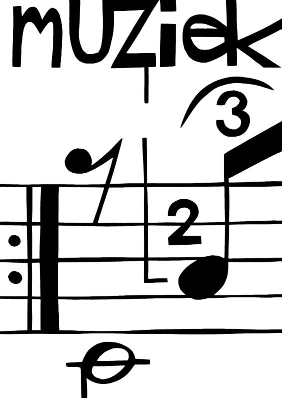 Wenskaarten divers - Muzieknoten