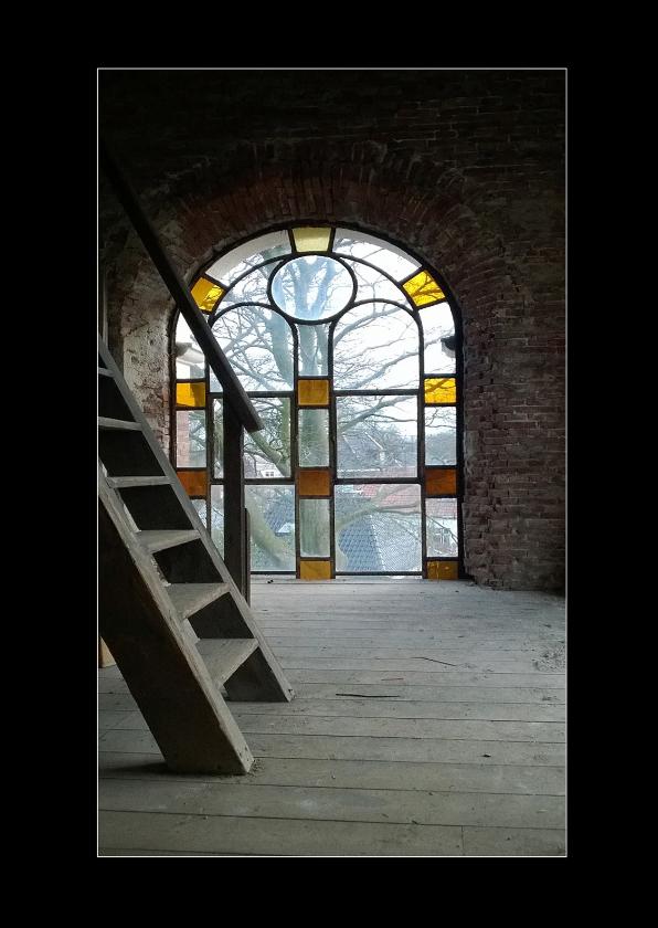 Wenskaarten divers - trap in kerk toren