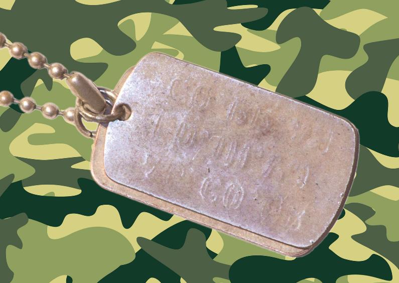 Wenskaarten divers - Wenskaart leger camouflage