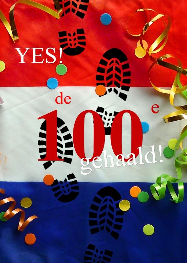 Wenskaarten divers - wenskaart Vierdaagse vlag
