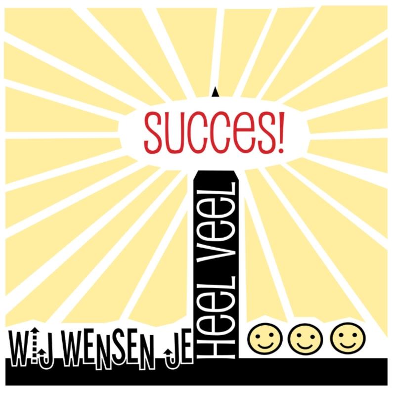 Wenskaarten divers - Wij wensen je heel veel succes