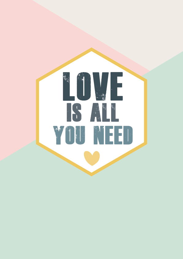 Vriendschap kaarten - Love is all you need