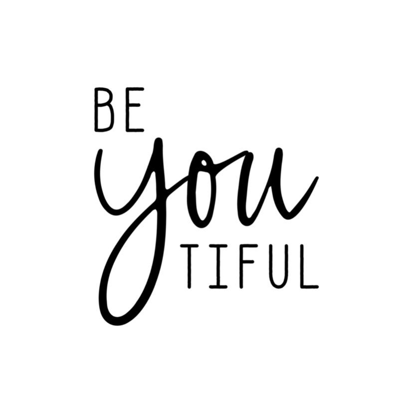 Woonkaarten - Woonkaart 'Be YOU tiful'