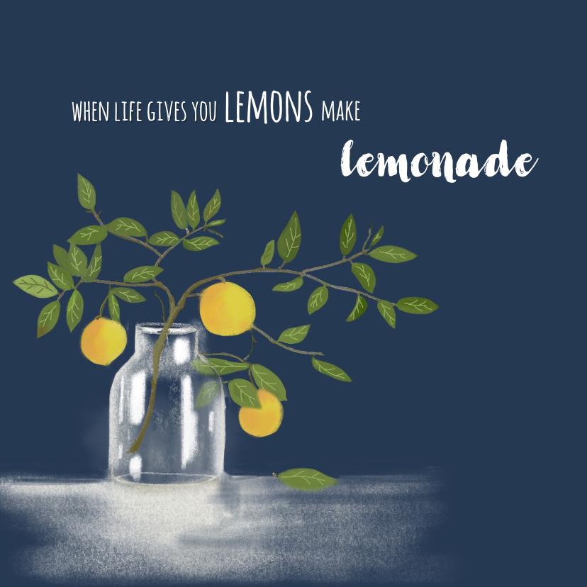Woonkaarten - Woonkaart Colorful lemons