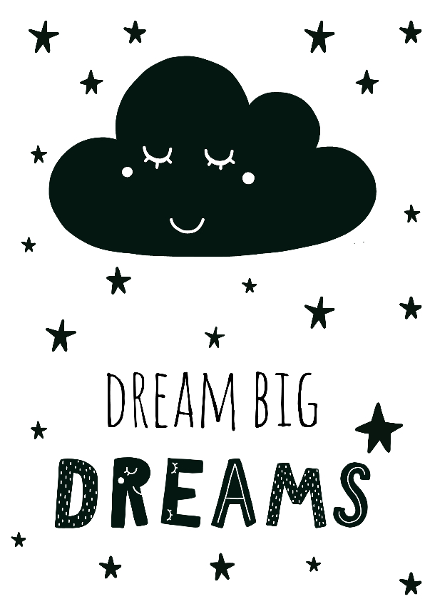 Woonkaarten - Woonkaart 'Dream big dreams'
