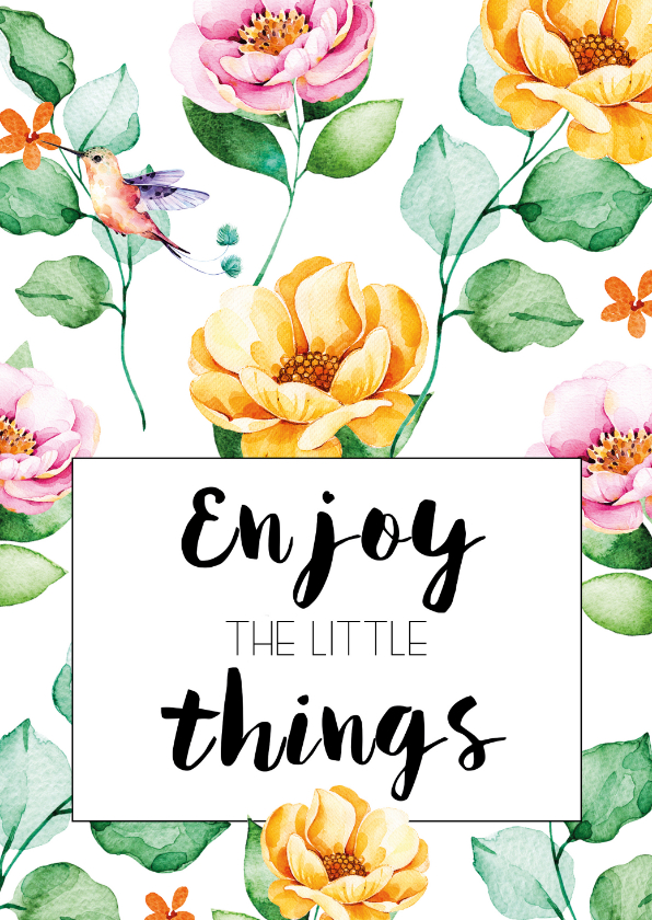 Woonkaarten - Woonkaart: Enjoy the little things