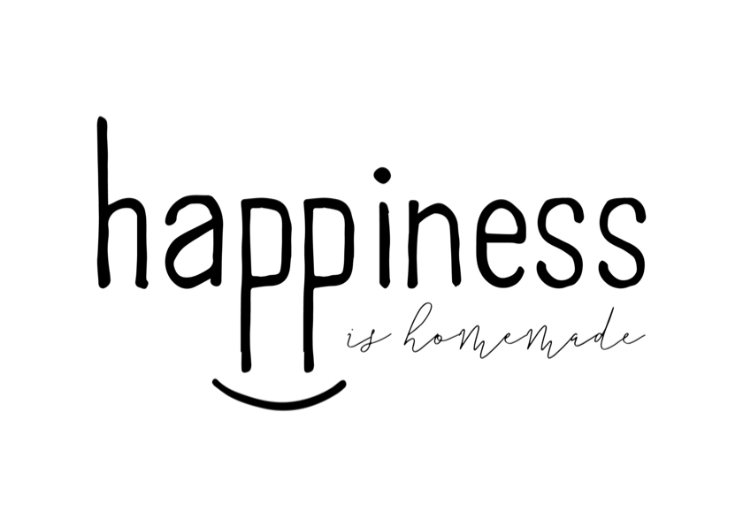 Woonkaarten - Woonkaart 'Happiness is homemade' met glimlach