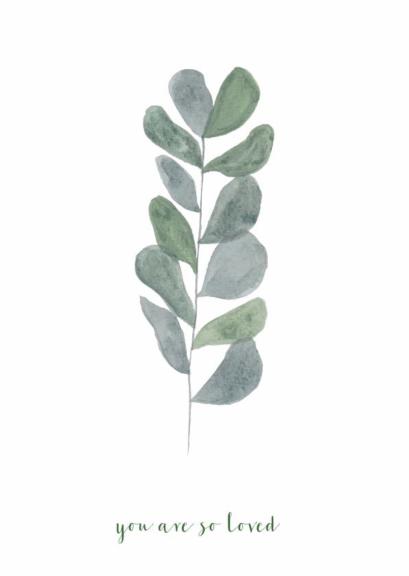 Woonkaarten - Woonkaart met een  Botanisch blad