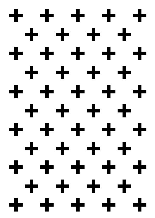 Woonkaarten - Woonkaart met zwart witte kruisjes