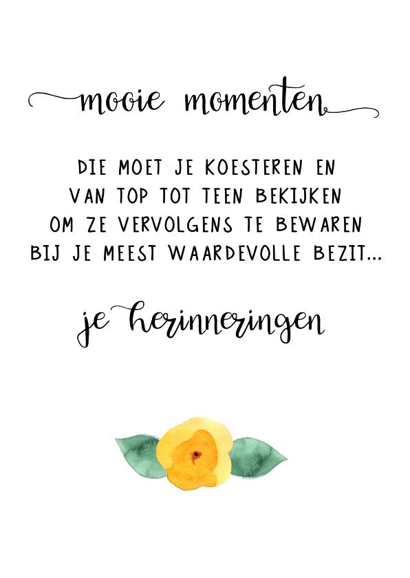 Woonkaarten - Woonkaart 'Mooie momenten'