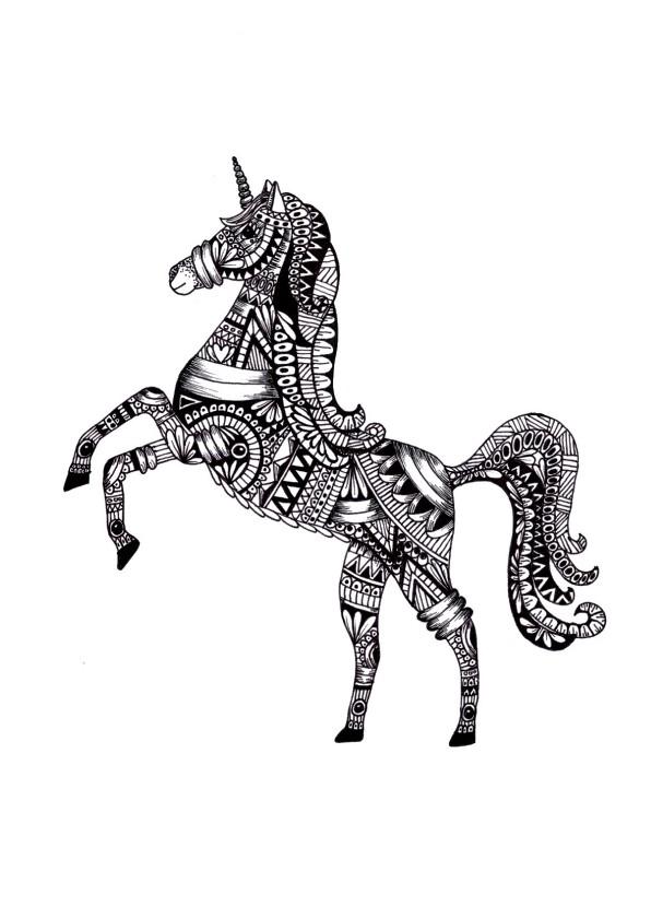 Woonkaarten - Woonkaart Unicorn Eenhoorn