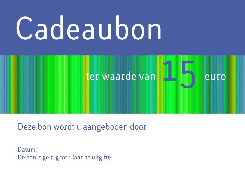 Zakelijke kaarten - Cadeaubon blauw groen liggend