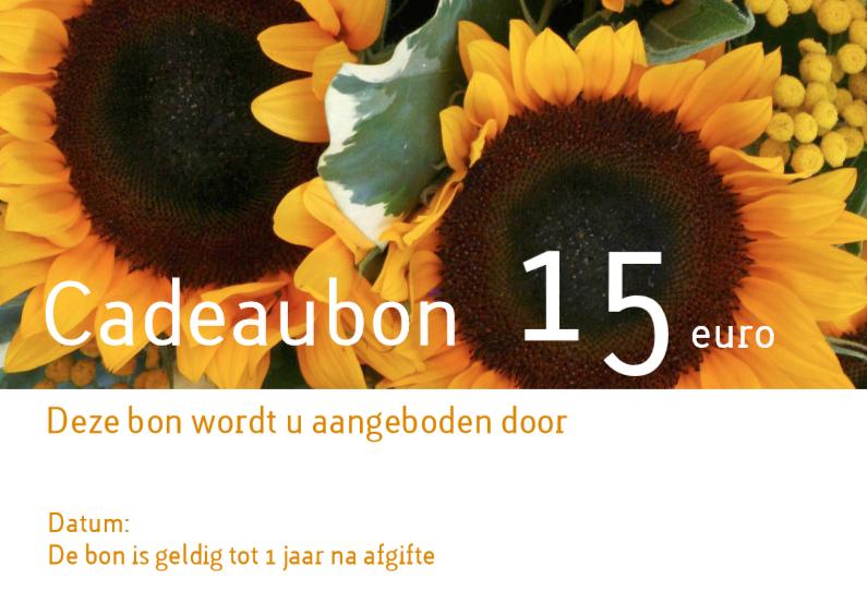 Zakelijke kaarten - Cadeaubon bloemen liggend