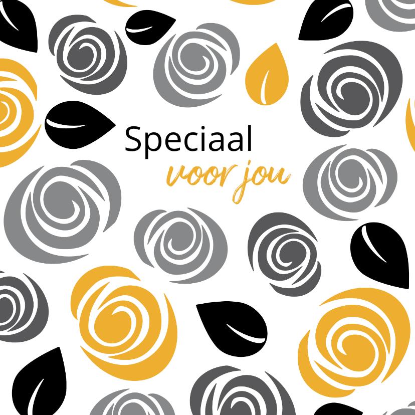 Zakelijke kaarten - Cadeaubon zakelijk zzp bloemen patroon