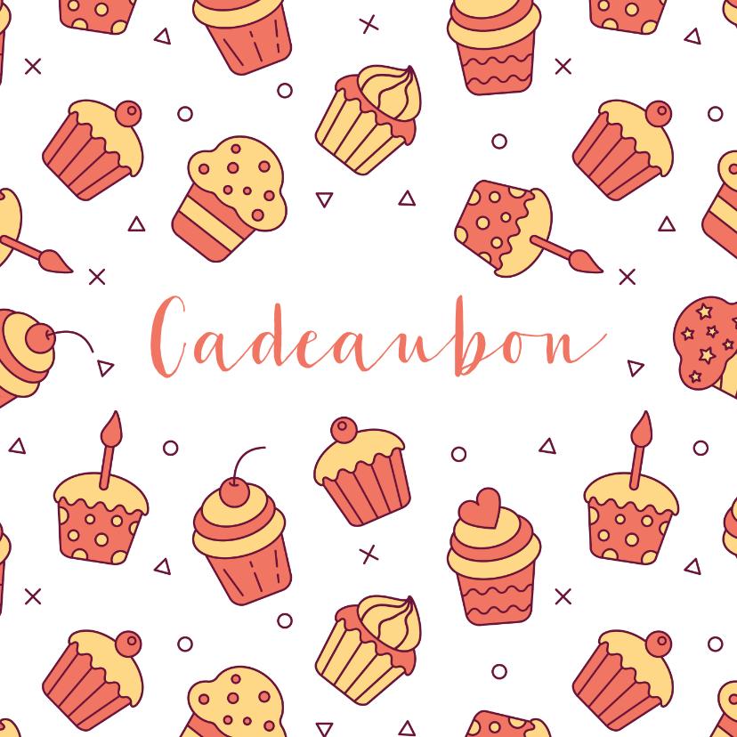 Zakelijke kaarten - Cadeaubon zakelijk zzp taarten en cupcakes