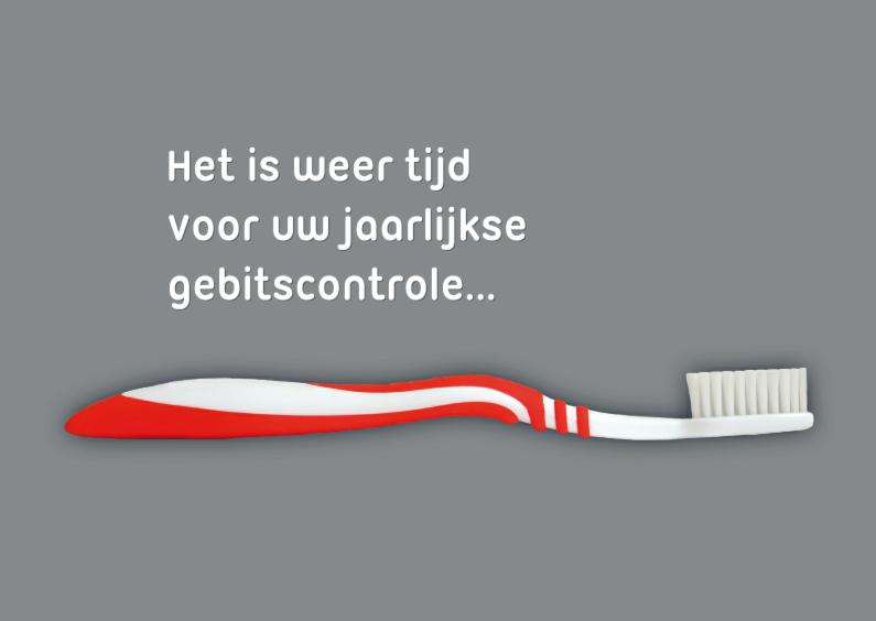 Zakelijke kaarten - Controle gebit tandarts