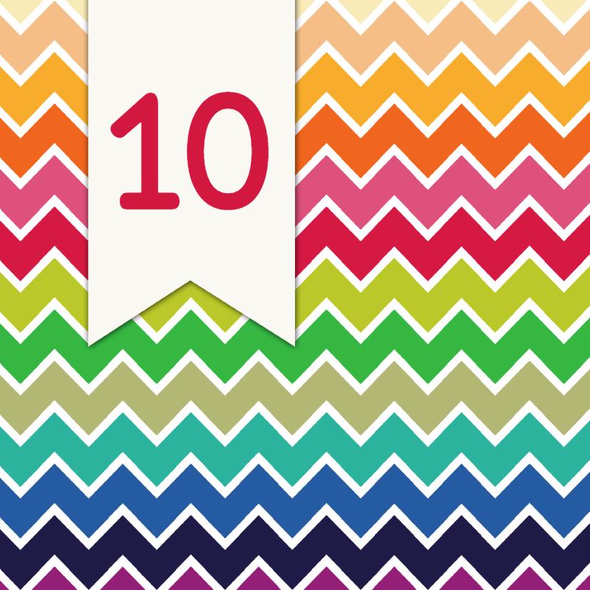 Zakelijke kaarten - Driehoek jubileum 10 jaar - DH