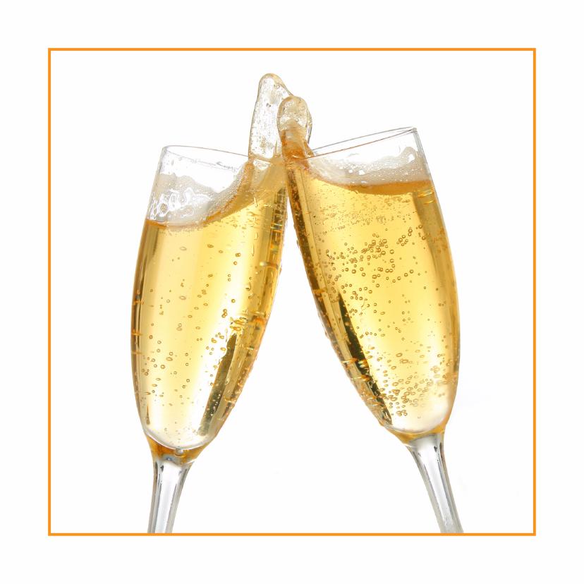 Zakelijke kaarten - Feestelijke openingskaart champagne