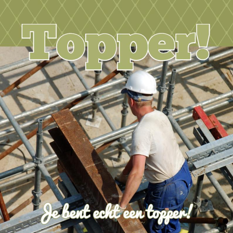 Zakelijke kaarten - Fotokaart vierkant Topper! - BK