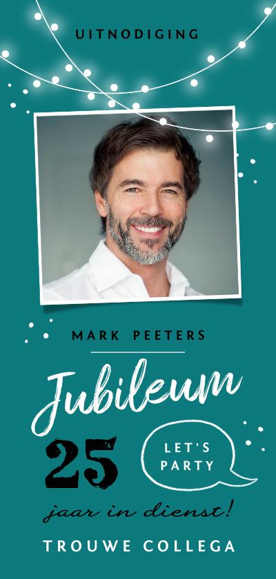 Zakelijke kaarten - Jubileum werk uitnodiging feestelijk x jaar in dienst