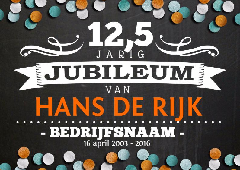 Zakelijke kaarten - Jubileumkaart 12,5 jaar Bedrijf