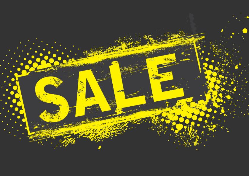 Zakelijke kaarten - Maling sale yellow