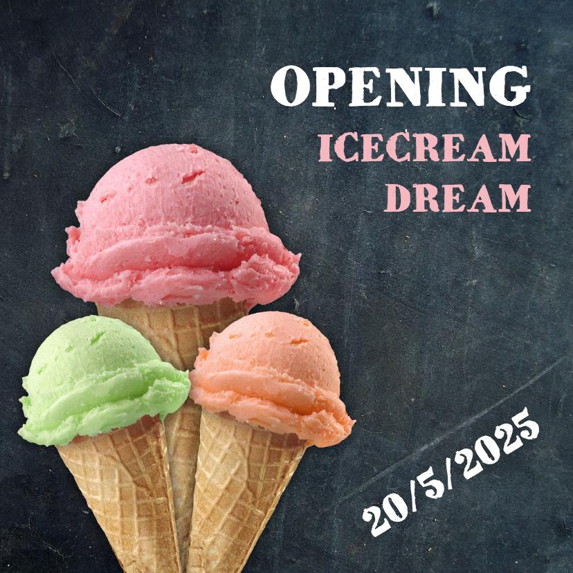 Zakelijke kaarten - Opening ijswinkel