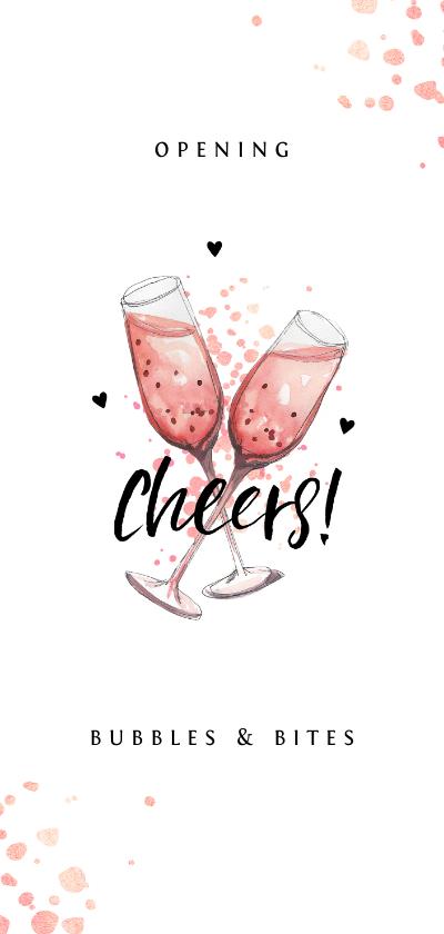 Zakelijke kaarten - Opening met champagne en borrels and bites