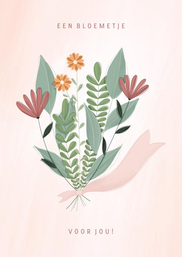 Zakelijke kaarten -  Zakelijke kaart een bloemetje voor jou