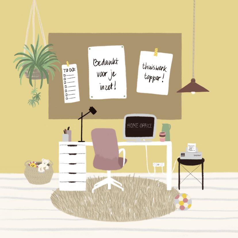 Zakelijke kaarten - Zakelijke kaart thuiswerken compliment