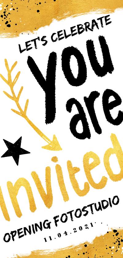 Zakelijke kaarten - Zakelijke uitnodiging hip en feestelijk voor een opening