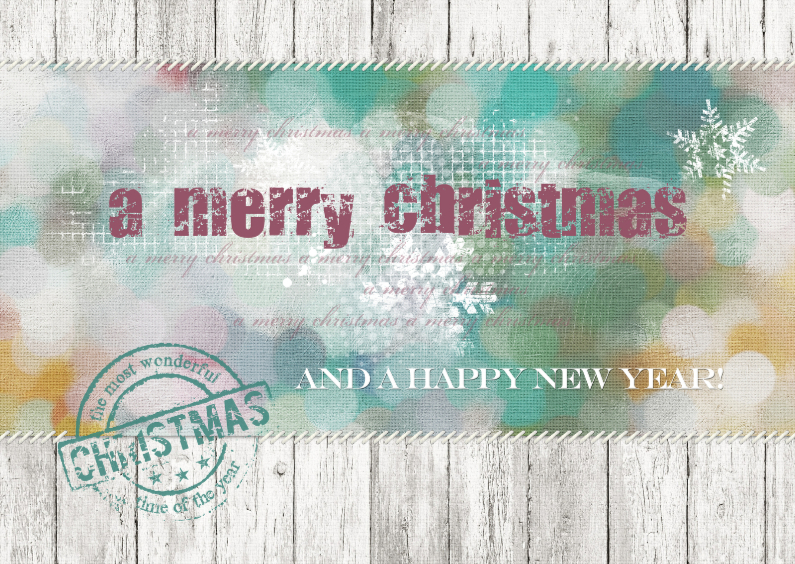 Zakelijke kerstkaarten - A merry Christmas Stempel