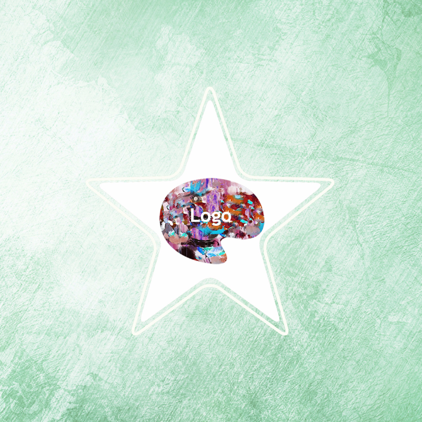Zakelijke kerstkaarten - Bedrijfskerstkaart logo in ster