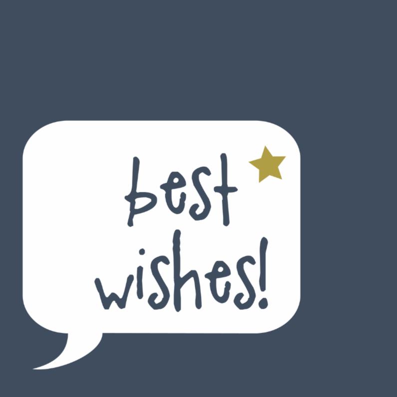 Zakelijke kerstkaarten - Best wishes to you!