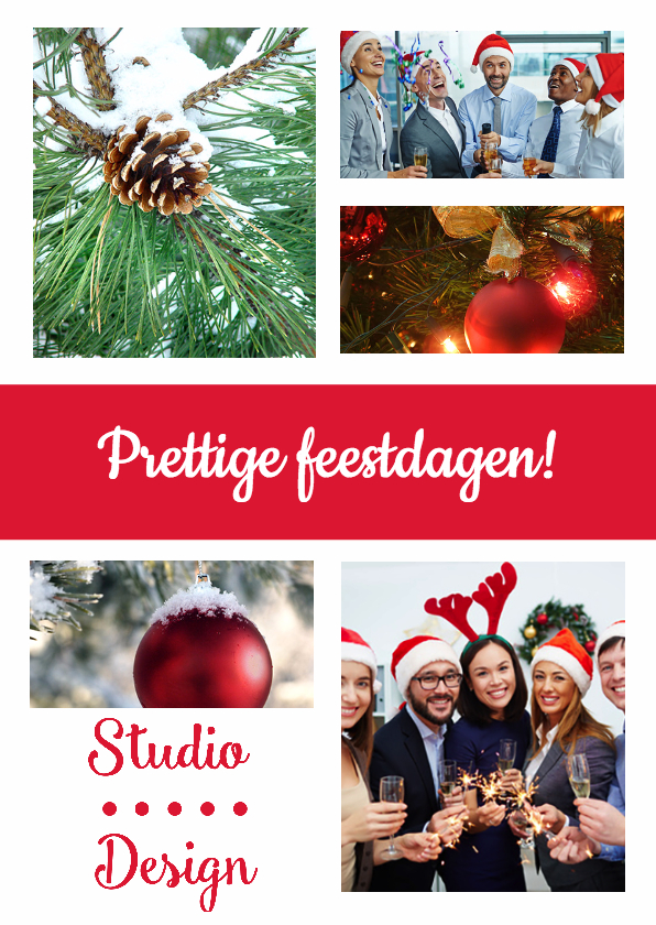 Zakelijke kerstkaarten - Collage kaart zakelijk logo - DH
