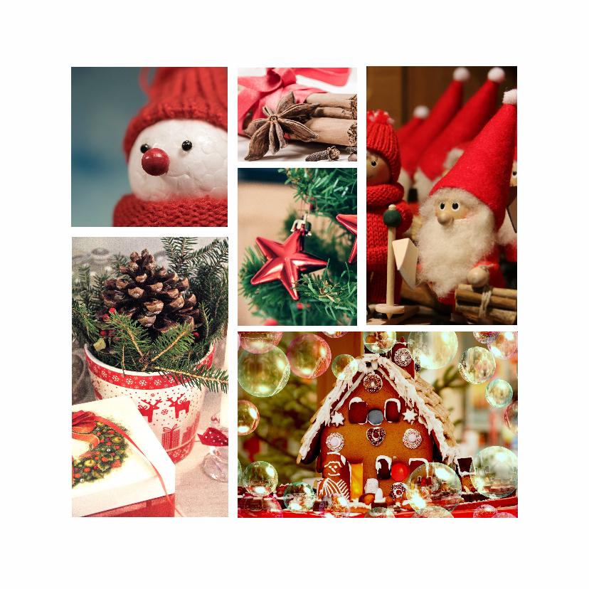 Zakelijke kerstkaarten - Collagekaart kerst - DH