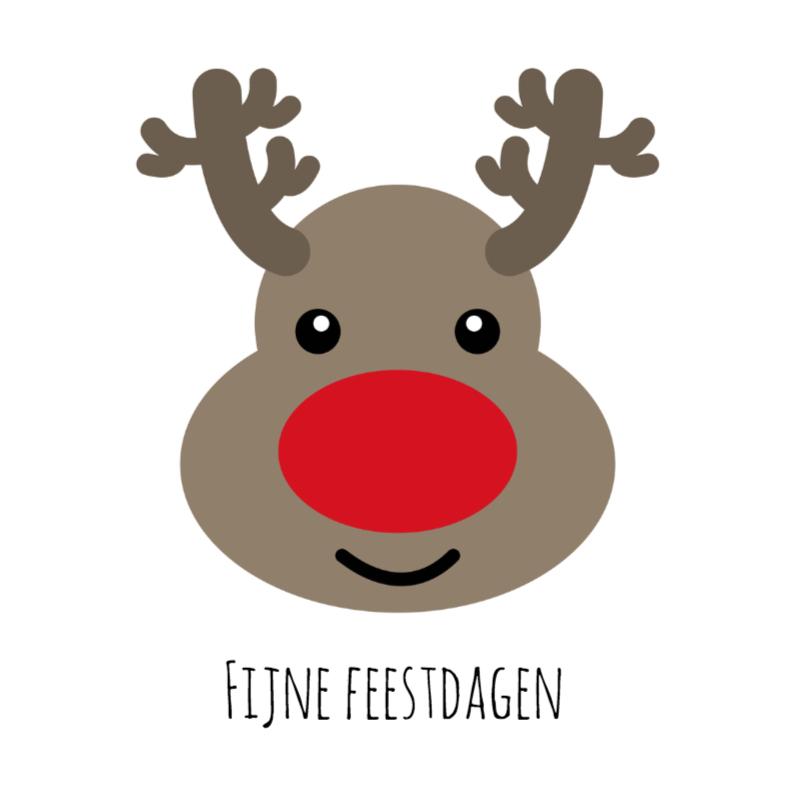 Zakelijke kerstkaarten - Fijne feestdagen Rudolf - DH