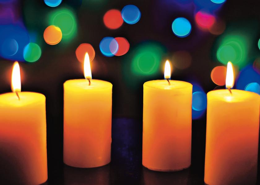 Zakelijke kerstkaarten - Foto kerstkaart met kaarsen