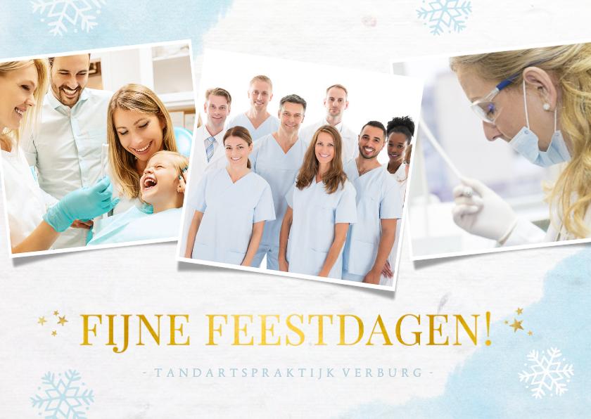 Zakelijke kerstkaarten - Frisse zakelijke kerstkaart voor de zorgsector met 3 foto's