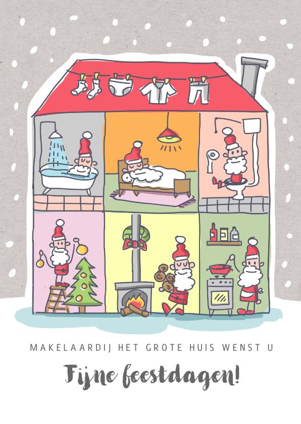 Zakelijke kerstkaarten - Grappige zakelijke kerstkaart makelaardij