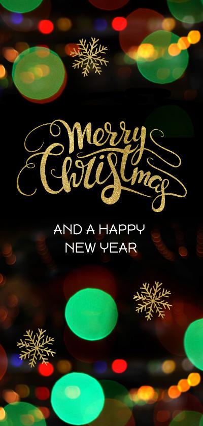 Zakelijke kerstkaarten - Hippe kerstkaart neon lichtjes - LO