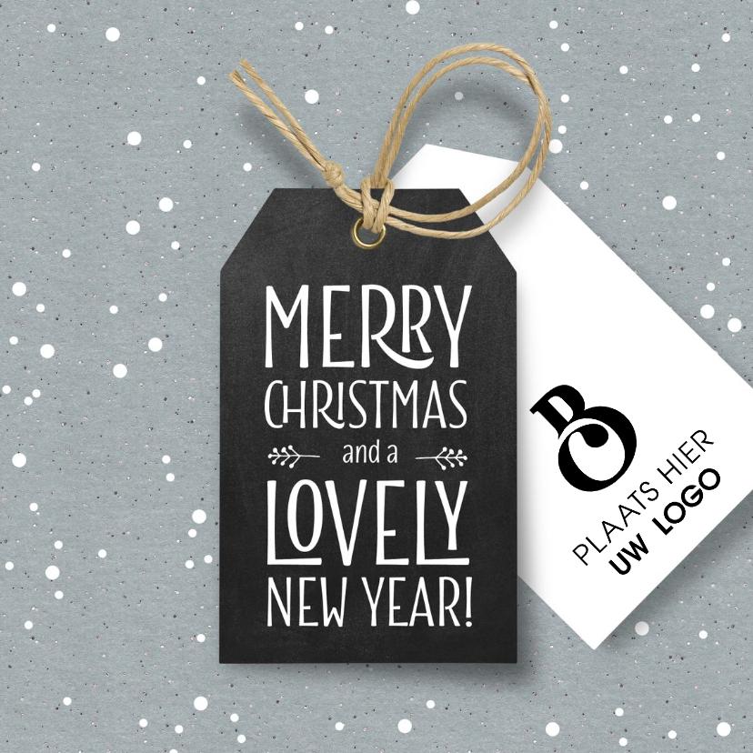 Zakelijke kerstkaarten - Hippe zakelijke kerstkaart label en logo