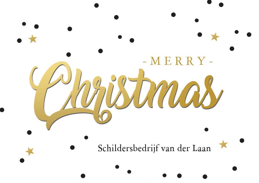 Zakelijke kerstkaarten - Kerst christmas goud