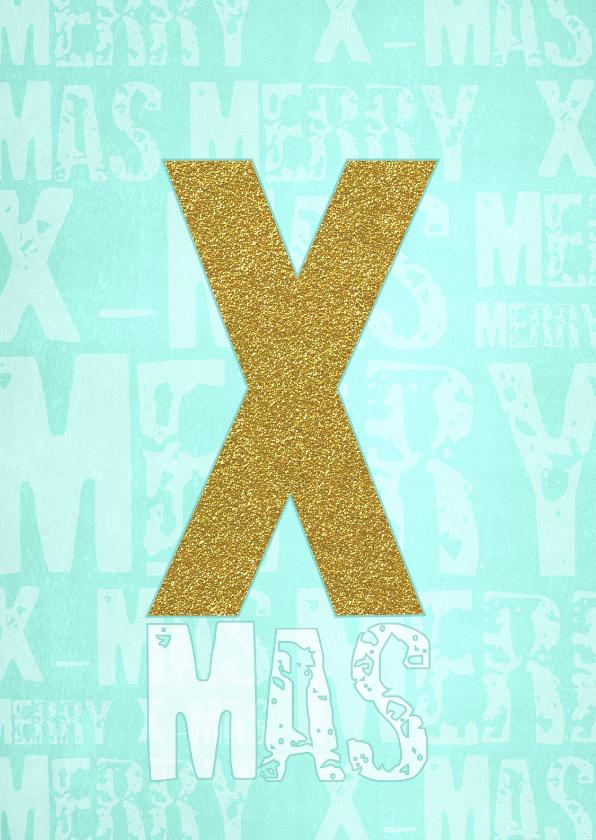 Zakelijke kerstkaarten - Kerst Hippe X-MAS kaart