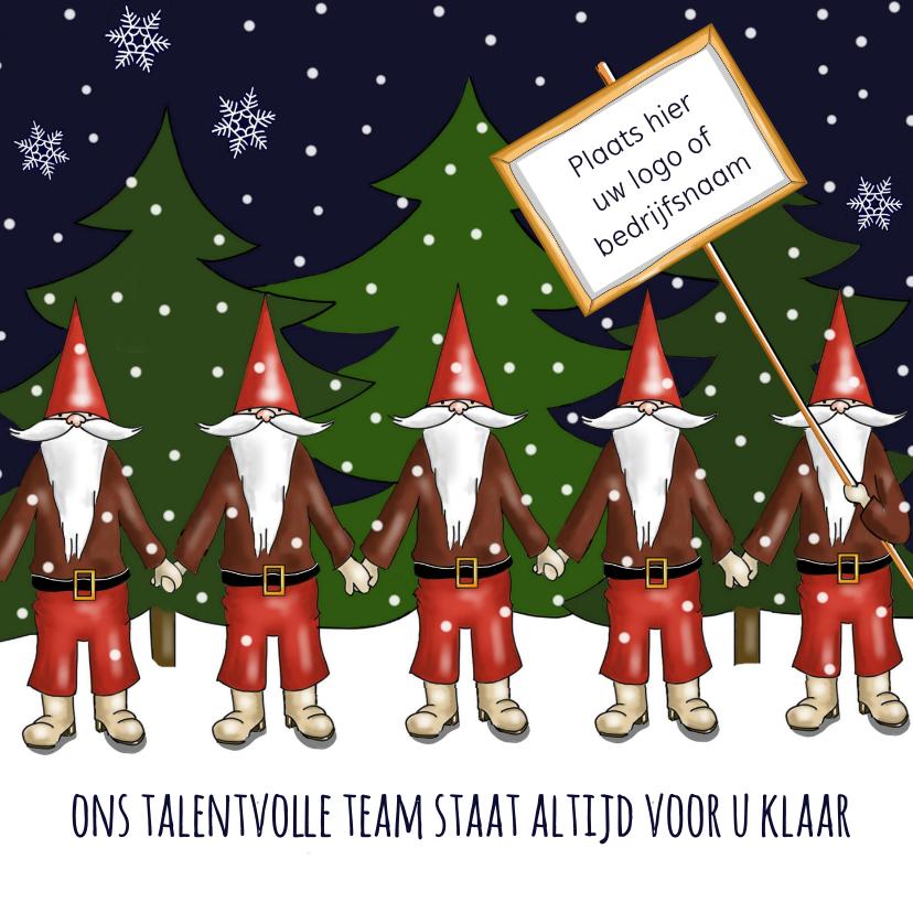 Zakelijke kerstkaarten - Kerst - kerstmannen team